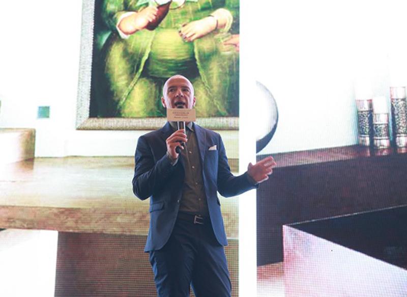 现代轻奢生活·兴辉瓷砖现代轻奢探索之旅暨跨国设计师沙龙福州站,意大利灵魂设计师、兴辉轻奢馆主笔设计师卢卡罗西