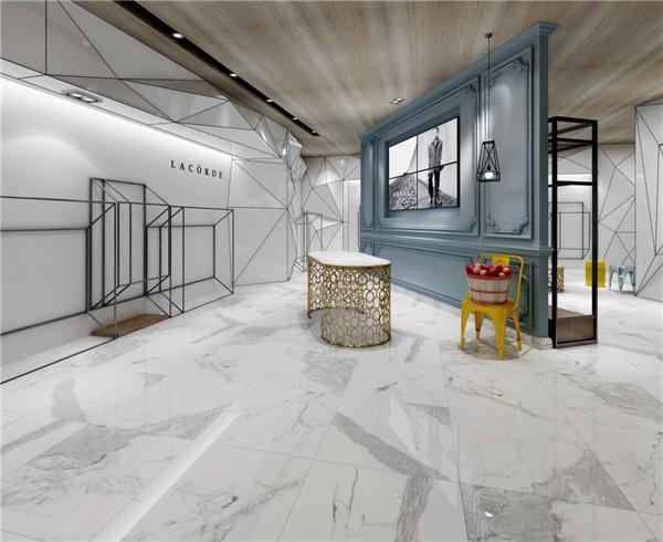 兴辉瓷砖·现代轻奢生活·现代简约将成为陶瓷市场主流·金刚釉·魔石雅典白铺贴效果图